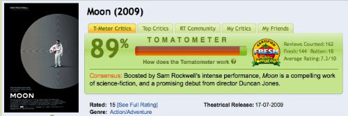 MOON Certified Fresh on Rotten Tomatoes