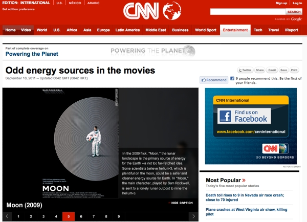 CNN - Energy sources in film - MOON