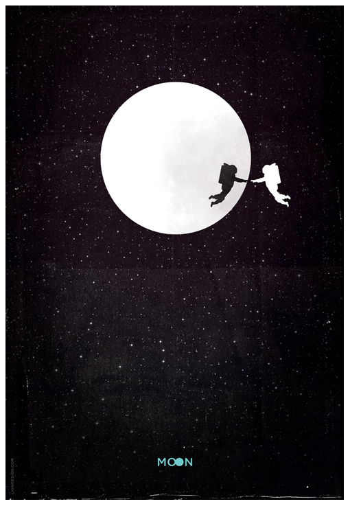 MOON Poster by Jason Heatherly