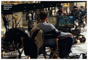 Duncan Jones On Set WARCRAFT 2014