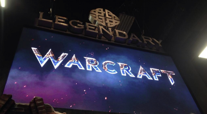 WARCRAFT Logo Display at Legendary - SDCC2014