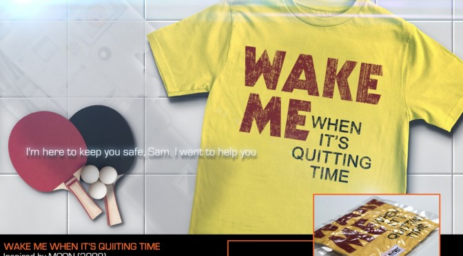Dark Bunny Tees - Wake Me When Its Quitting Time - MOON