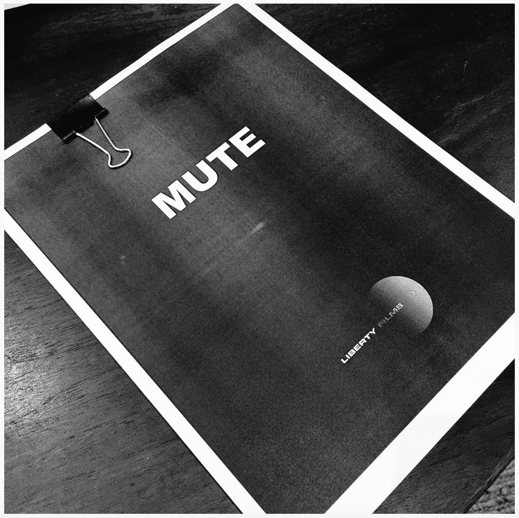 MUTE Script Pic Tweeted By Duncan Jones