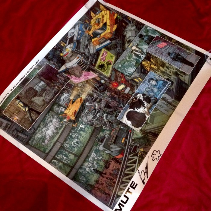 MUTE Print Signed by Duncan Jones