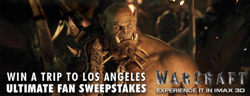 IMAX Warcraft Sweepstakes May 2016