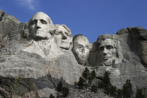Paul Hirsch on Mount Rushmore by Jack Stevens