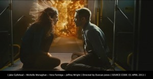 Jake Gyllenhaal, Michelle Monaghan, Vera Farmiga, Jeffrey Wright in Duncan Jones' Source Code. April 1st 2011