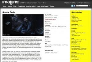 Source Code - Imagine: Amsterdam Fantastic Film Festival 23 April 2011