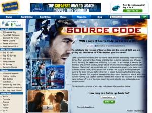 Source Code DVD / Blu-Ray Release UK Blockbuster 29th July 2011