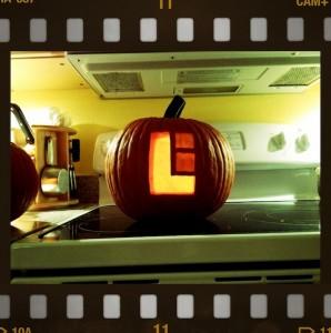 MOON Lunar Industries Halloween Pumpkin By Charles Kline
